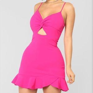 FashionNova pink dress